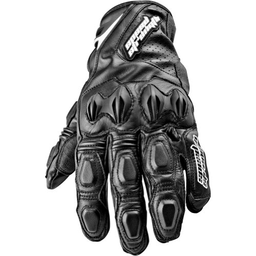 Speed and Strength Seven Sins Men's Leather On-Road Racing Motorcycle Gloves - Black / Medium