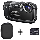 Fujifilm FinePix XP200 Digital Camera - Black + Case and 8GB Memory Card (16MP, 5x Optical Zoom) 3 inch LCD