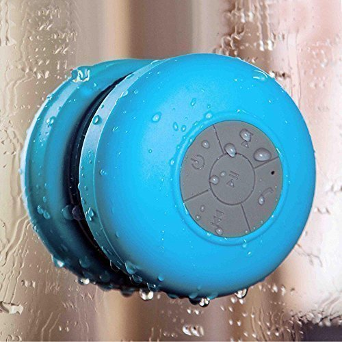 Tonor TM Portable Mini Wireless Bluetooth Speaker, HI-FI Water Resistant Shower Speaker with Suction Cup for Glass Mirror Bathroom,Rechargeable, Built-in Mic, Hand-free Call Answering, 35ft Bluetooth Range, works with iPhone Macbook Samsung Cellphone and