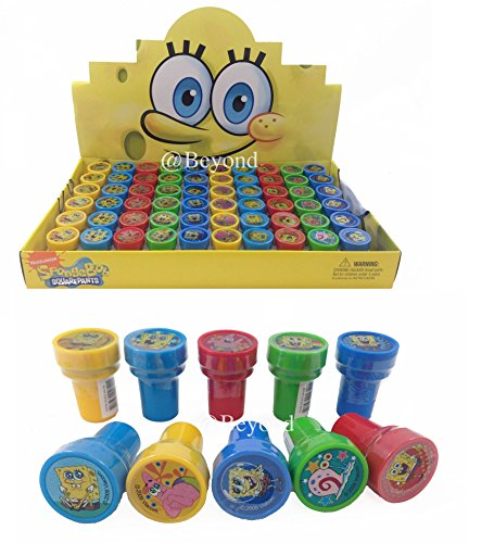 New! (60Ct) Disney Spongebob Stamps Stampers Self-Inking Party Favors- Full Box!