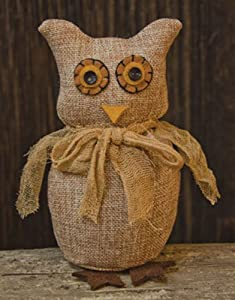 amazoncom doll burlap fabric owl primitive country