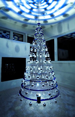 Modern Christmas Tree - 7.5' Hanging Blue Artificial Christmas Tree