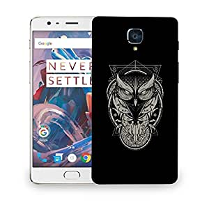 Snoogg Grey Abstract Designer Protective Back Case Cover For ONEPLUS THREE