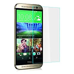 Heartly Imak 9H Hardness Anti Explosion 0.3mm Tempered Glass 2.5D Arc Edge Screen Guard Protector For HTC One M8