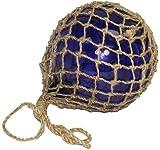 """10"""" Blue Glass Fishing Float - Nautical and Ship Decor - Garden Sun Catcher"""