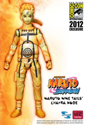 Naruto Shippuden: Naruto Nine Tails Chakra Mode Action Figure 2012 SDCC Exclusive (Naruto Nine Tails Figure compare prices)