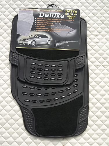 Audi A4 / A6 / A8 Car Mats - PVC Rubber 4 Peice Set - 2210 Black