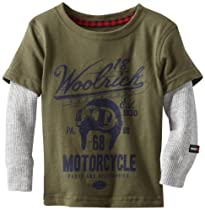 Woolrich Baby-Boys Infant Twofer T-Shirt, Army Green, 12 Months