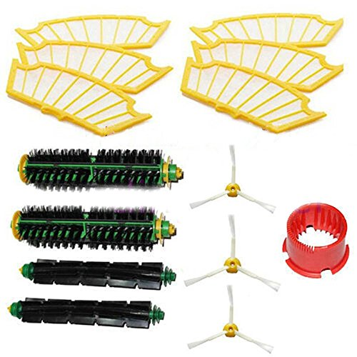 Side Brush Beater Flexible Bristle Brushs 6pcs Filter Kit For iRobot Roomba 500 Series Vacuum Cleaner (Roomba Beater compare prices)