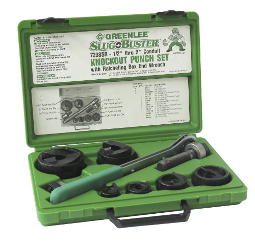 Greenlee 7238SB Slug-Buster Knockout Kit With Ratchet Wrench