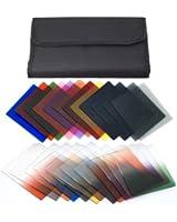 11 filtres de couleur + 12 filtres gradué + gradué de gris + 2 boitiers Pour Cokin P Série Series LF77