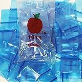 "300 2.5mil Apple Ziplock Mini Bag /// Recloseable Bags 1"" X 1"" /// Size #1010 (1x1) Baggies /// 1""x1"" (Blue)"