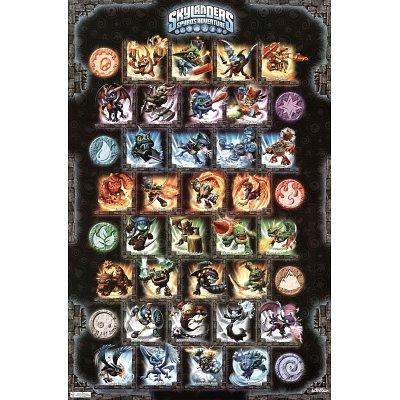 Skylanders Spyro's Adventure Grid Video Game Poster Print - 22x34