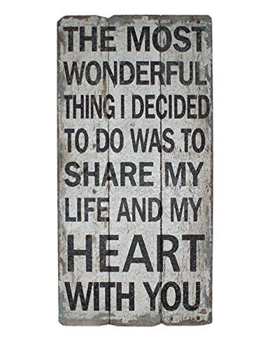 "Cheung's Rattan FP-3481 ""Share My Life & Hearts"" Wall Decor"