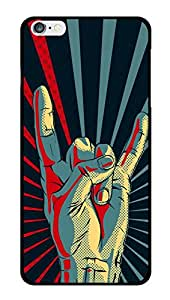 """Humor Gang Rock On Hands Printed Designer Mobile Back Cover For """"Apple Iphone 6 - 6S"""" (2D, Glossy, Premium Quality Snap On Case)"""