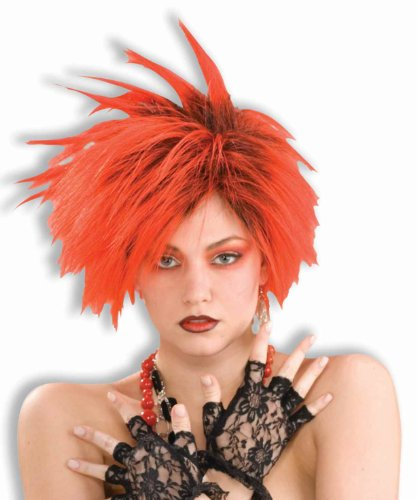 Forum Novelties Women's 80's To The Maxx Red Punk Costume Wig