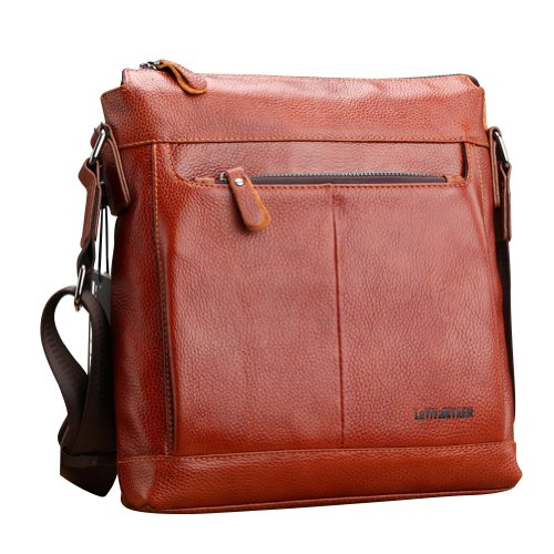 Men's Chic Top Quality Genuine Leather Casual Business Shoulder Messager Bag Briefcase