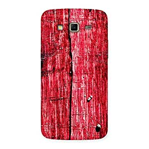 Red Wood Fenced Back Case Cover for Samsung Galaxy Grand 2