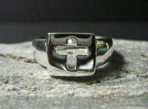 Christian Cross Ring - Modern Christian Cross Ring - Modern Design Christian Cross Ring - Size 6