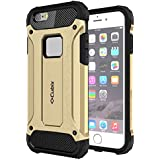 IPhone 6S Plus Case Cubix Rugged Armor Case For Apple IPhone 6S Plus (Gold)
