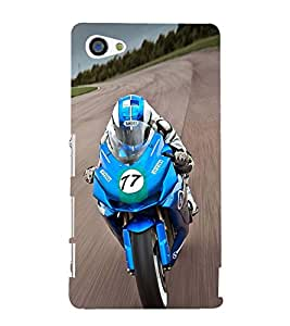 Extreme racing Bike 3D Hard Polycarbonate Designer Back Case Cover for Sony Xperia Z5 Compact :: Sony Xperia Z5 Mini