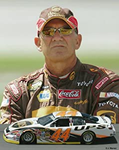 Dale Jarrett 8 X 10 Photograph Print - NASCAR Car # 44 by Swashcollectables