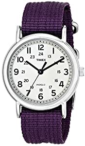 "Timex Unisex T2N648 ""Weekender"" Watch with Purple Nylon Band"