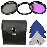 Discount on Professional UV-CPL-FLD Filter Kit for Sony Alpha NEX Series (NEX-3 NEX-5N NEX-7 NEX-F3 / 18-55mm and 55-210mm Lenses) &#8211; Includes: Ultraviolet UV, Polarizer CPL, and Fluorescent FLD Filters + Carry Case + 3 MagicFiber Microfiber Lens Cleaning Cloths