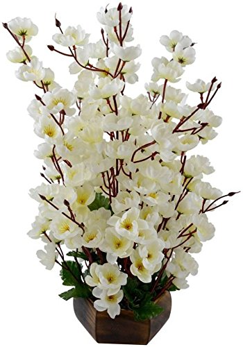 Kaykon Artificial Flowers Bunch White Orchid Flower For Home Decor 17 Inch