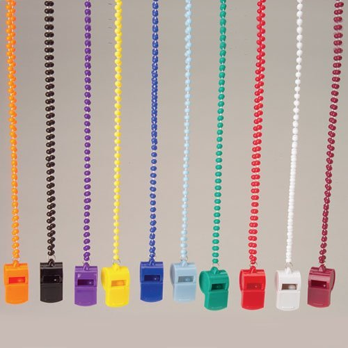 Orange Whistle Necklaces