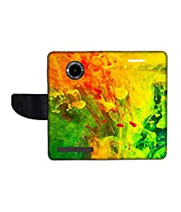KolorEdge Printed Flip Cover For Micromax Yu YuPhoria Multicolor - (1478-50KeMLogo10379MmxYuPhoria)