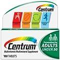 Centrum Multivitamin/Multimineral Supplement, Adults under 50, 100 Tablets