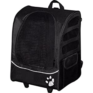 Pet Gear I-GO2 Plus Traveler Rolling Backpack Carrier for Cats and Dogs