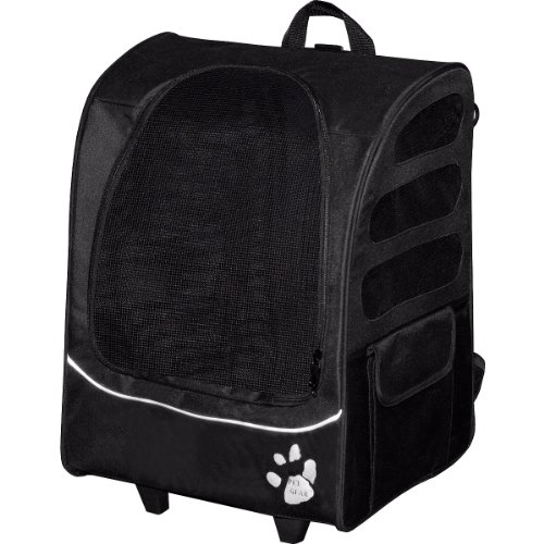 Buy Pet Gear I-GO2 Plus Traveler Rolling Backpack Carrier for Cats and Dogs up to 25-pounds, Black