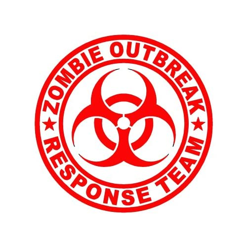 Zombie Outbreak Response Team   Vinyl Decal Sticker   3.5 RED by Ikon Sign