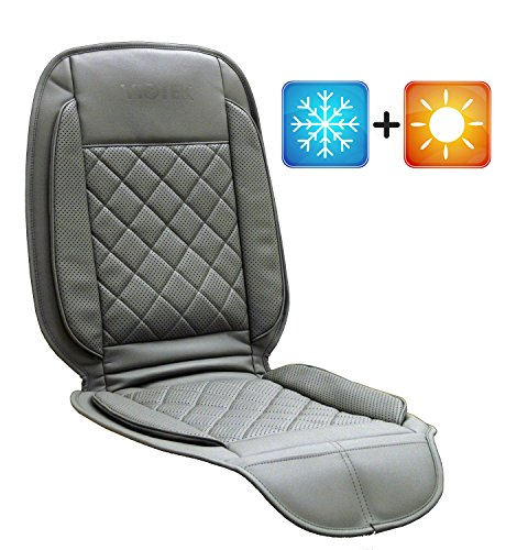 Viotek Heated & Cooled Seat Cushion - Featuring Tru-Comfort Auto Heating & Cooling Climate Control - Grey (Cooled Seat Covers For Cars compare prices)