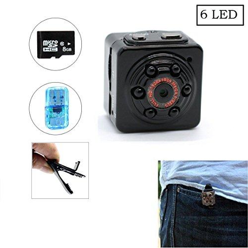 Mini hidden spy camera, SQ9 Mini DV 1080P Full HD H.264 12.0MP CMOS Dash Camera Motion detection Wireless Video Camera With 8GB TF Card (Mini Spy Cameras For Cars compare prices)