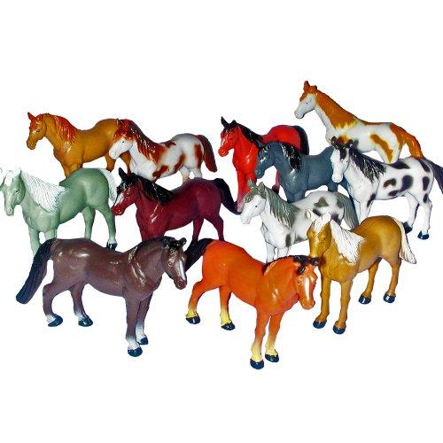 "~ 12 ~ Horse Figures ~ 3"" To 4"" Plastic ~ New"