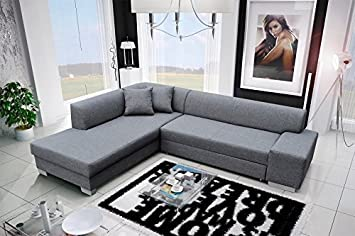 Ecksofa Porto2 Eckcouch Sofa Couch mit Bettfunktion 01557