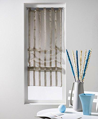 voilage largeur 45 cm jusqu 70 pureshopping. Black Bedroom Furniture Sets. Home Design Ideas