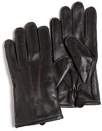 Ben Sherman Men's Plectrum Leather Gloves, Black, L/XL