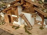 2 x Haus Holz 75cm und 27cm Krippe + Zubehör