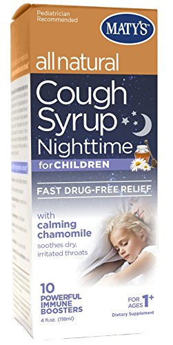 Matys All Natural Kids Nighttime Cough Syrup, Chamomile & Nutmeg, 4 Fluid Ounce (All Natural Products compare prices)