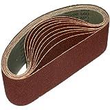 ALEKO® 3-Inch x 21-Inch 80 Grit Aluminum Oxide Sanding Belt, 10-Pack