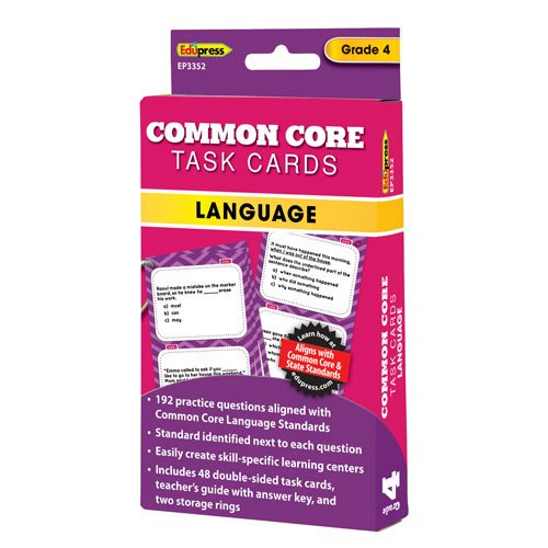 Common Core Language Task Cards Grade 4 - 1