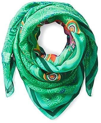Desigual - idoscop - foulard - imprimé - femme - vert (verde loro) - taille unique