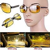 2 Pcs New Men Women Classic Night Vision Driving glasses Eye-glasses yellow lens