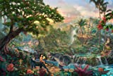 24x36 Thomas Kinkade Disney Art Print on Cotton Canvas -The Jungle Book