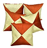 5pcs Multi Silk Pillow Covers Indian Modern Luxury Sofa Cushion Covers
