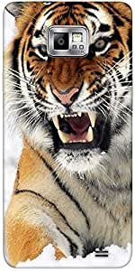 Snoogg Tiger Hunger Designer Protective Back Case Cover For Samsung Galaxy S2...